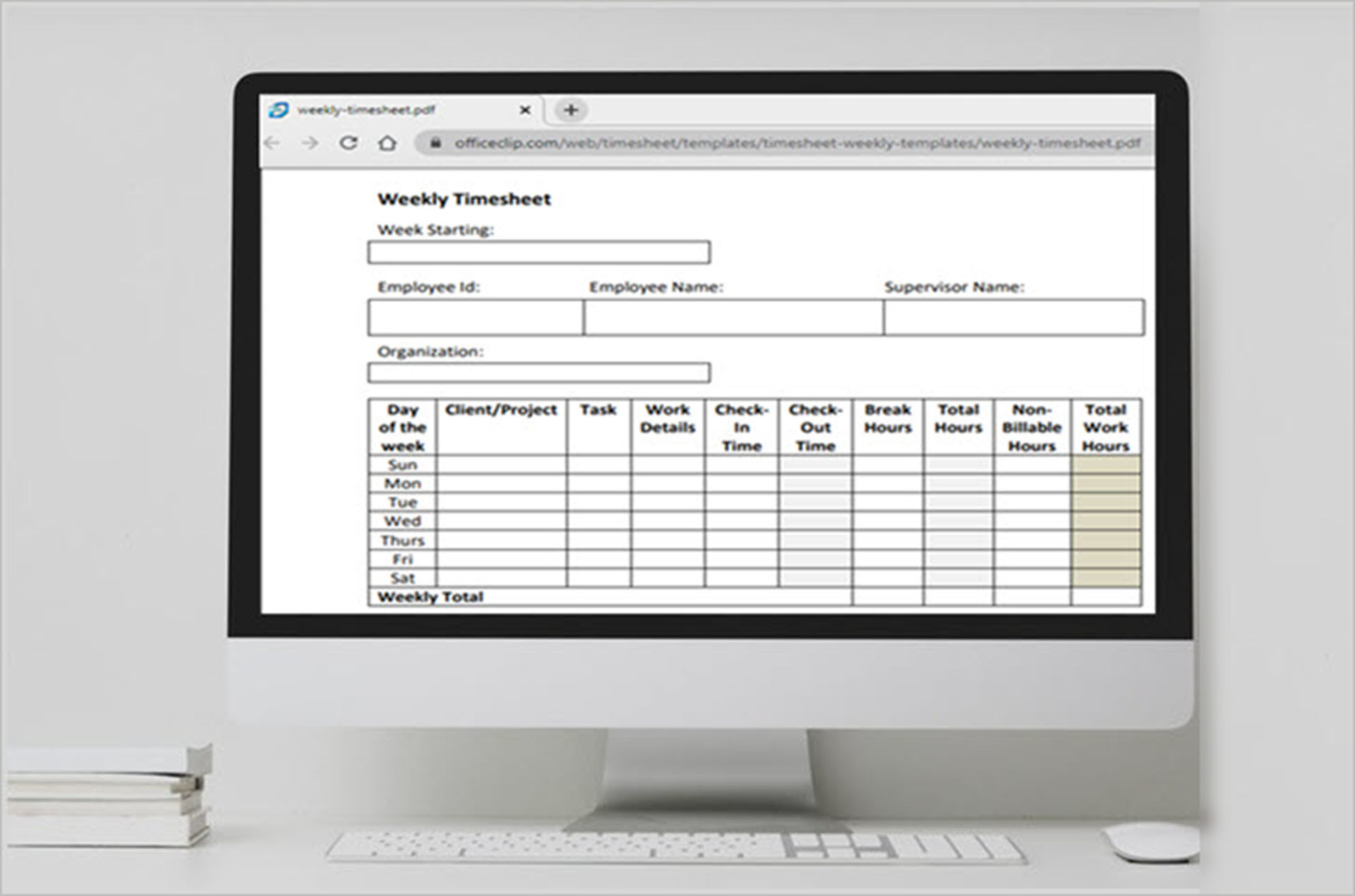 Simple Timesheet Templates to Record Time