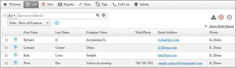 Free Contact Management Software, Free CRM: OfficeClip